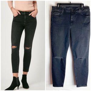 New MAVI Tess High Rise Skinny Jeans Black W32/L27